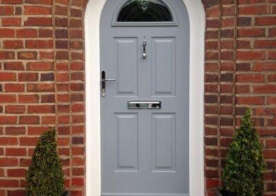 entrance door with arch