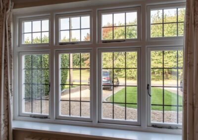 cottage style windows with lead panes