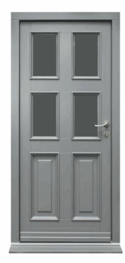 grey panel front door