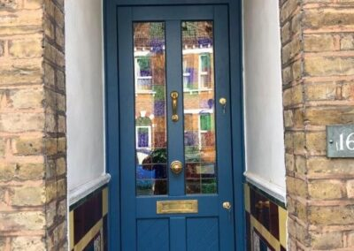 victorian style entrance door