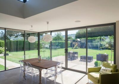 bi-fold sliding patio doors onto garden